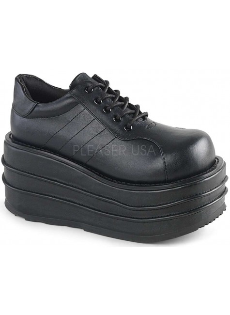 Tempo Unisex Faux Leather Platform Sneaker at Gothic Plus, Gothic Clothing, Jewelry, Goth Shoes & Boots & Home Decor
