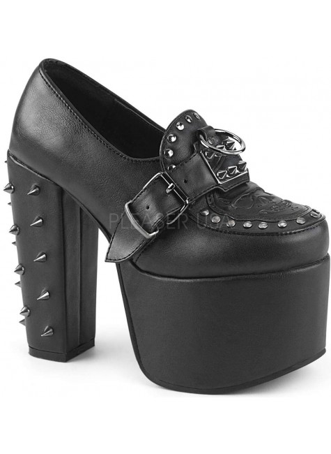 Torment Studded Platform Gothic Loafer at Gothic Plus, Gothic Clothing, Jewelry, Goth Shoes & Boots & Home Decor