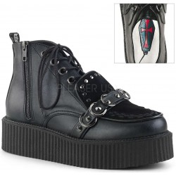 High Top Creeper-555 Platform Oxford by Demonia Gothic Plus Gothic Clothing, Jewelry, Goth Shoes & Boots & Home Decor