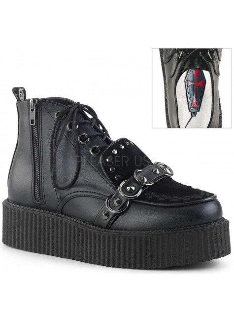 High Top Creeper-555 Platform Oxford by Demonia at Gothic Plus, Gothic Clothing, Jewelry, Goth Shoes & Boots & Home Decor