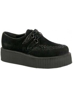 Black Faux Suede Mens Creeper Loafer Gothic Plus Gothic Clothing, Jewelry, Goth Shoes & Boots & Home Decor