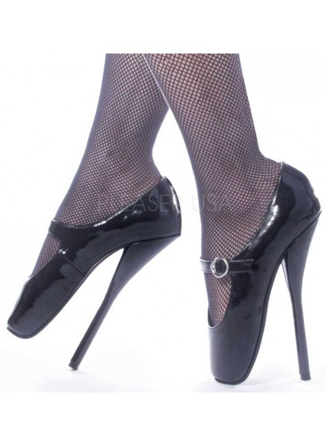 Ballet Extreme Black Mary Jane Shoe at Gothic Plus, Gothic Clothing, Jewelry, Goth Shoes & Boots & Home Decor
