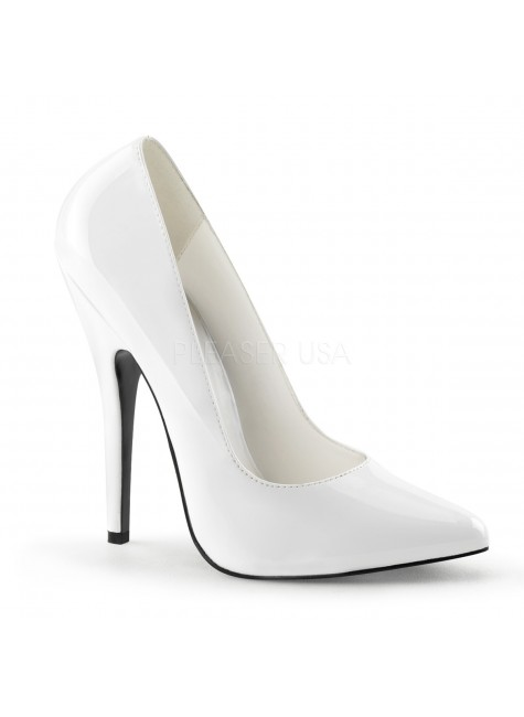 Classic White 6 Inch High Heel Pump at Gothic Plus, Gothic Clothing, Jewelry, Goth Shoes & Boots & Home Decor