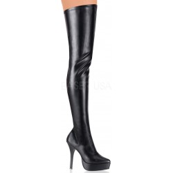Black Indulge 3000 Vegan Leather Stiletto Heel Boot Gothic Plus Gothic Clothing, Jewelry, Goth Shoes & Boots & Home Decor