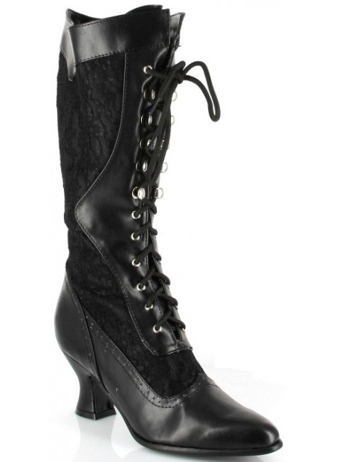 Rebecca Victorian Black Lace Boot at Gothic Plus, Gothic Clothing, Jewelry, Goth Shoes & Boots & Home Decor