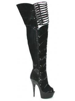 Katrina Peep Toe Thigh High Platform Boots Gothic Plus Gothic Clothing, Jewelry, Goth Shoes & Boots & Home Decor