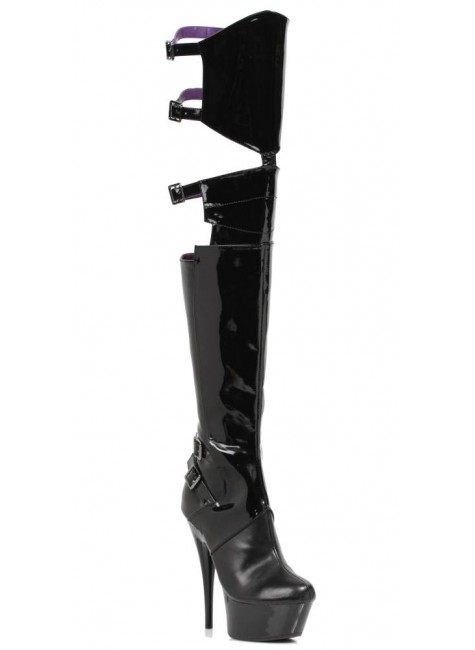Felicia 6 Inch Heel Thigh High Platform Boot at Gothic Plus, Gothic Clothing, Jewelry, Goth Shoes & Boots & Home Decor
