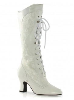 Rebecca Victorian White Lace Boot Gothic Plus Gothic Clothing, Jewelry, Goth Shoes & Boots & Home Decor