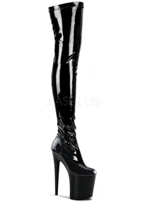Flamingo 8 Inch Heel Thigh High Platform Boot at Gothic Plus, Gothic Clothing, Jewelry, Goth Shoes & Boots & Home Decor