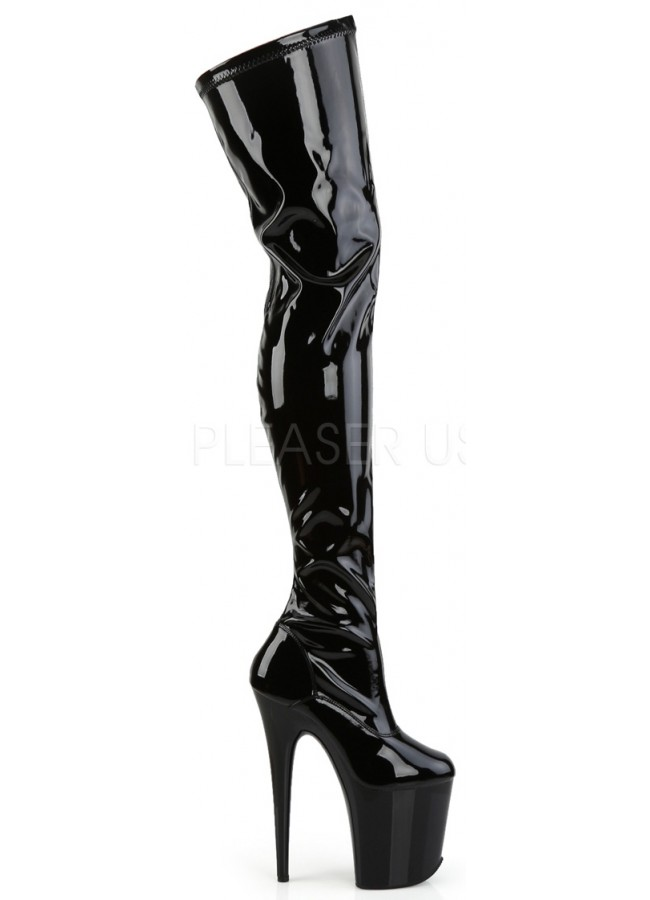 Flamingo Thigh High 8 Inch Heel Boot