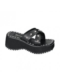 Flip Skull Studded Platform Gothic Sandal Gothic Plus Gothic Clothing, Jewelry, Goth Shoes & Boots & Home Decor