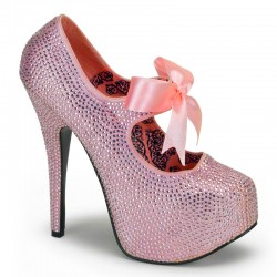 Baby Pink Rhinestone Teeze Platform Pump Gothic Plus  Gothic Clothing, Jewelry, Goth Shoes, Boots & Home Decor