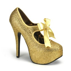 Gold Rhinestone Teeze Platform Pump Gothic Plus Gothic Clothing, Jewelry, Goth Shoes & Boots & Home Decor