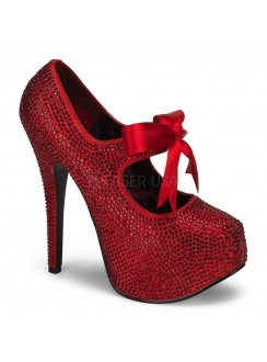 Ruby Red Rhinestone Teeze Platform Pump Gothic Plus Gothic Clothing, Jewelry, Goth Shoes & Boots & Home Decor
