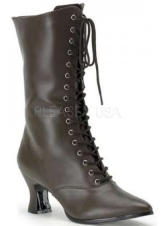 Brown Victorian Ankle Boot Gothic Plus Gothic Clothing, Jewelry, Goth Shoes & Boots & Home Decor