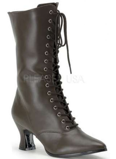 Brown Victorian Ankle Boot at Gothic Plus, Gothic Clothing, Jewelry, Goth Shoes & Boots & Home Decor