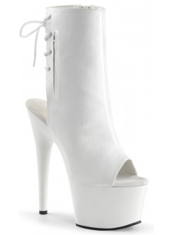 White Peep Toe and Heel Platform Ankle Boot Gothic Plus Gothic Clothing, Jewelry, Goth Shoes & Boots & Home Decor