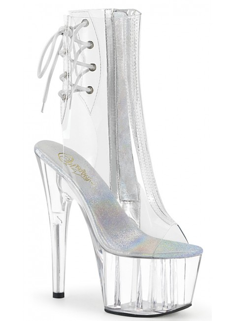 Clear Platform Adore Ankle Boot at Gothic Plus, Gothic Clothing, Jewelry, Goth Shoes & Boots & Home Decor