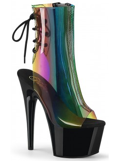 Rainbow Black Platform Ankle Boot Gothic Plus Gothic Clothing, Jewelry, Goth Shoes & Boots & Home Decor