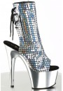 Mermaid Silver Hologram Ankle Boot at Gothic Plus, Gothic Clothing, Jewelry, Goth Shoes & Boots & Home Decor
