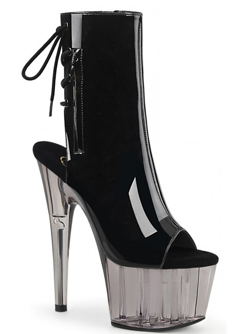 Smoke Platform Adore Black Patent Ankle Boot at Gothic Plus, Gothic Clothing, Jewelry, Goth Shoes & Boots & Home Decor