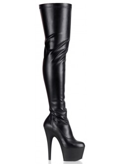 Adore Black Matte Thigh High Platform Boot Gothic Plus Gothic Clothing, Jewelry, Goth Shoes & Boots & Home Decor