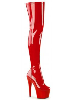 Adore Red Thigh High Platform Boot Gothic Plus Gothic Clothing, Jewelry, Goth Shoes & Boots & Home Decor