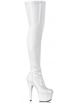 Adore White Thigh High Platform Boot Gothic Plus Gothic Clothing, Jewelry, Goth Shoes & Boots & Home Decor
