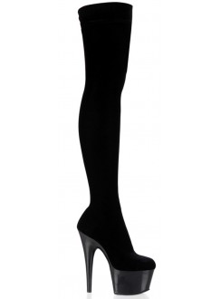 Adore Black Velvet Thigh High Platform Boot Gothic Plus Gothic Clothing, Jewelry, Goth Shoes & Boots & Home Decor