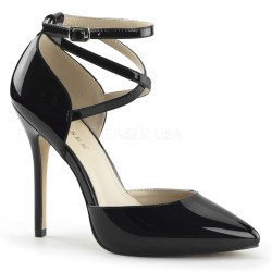 Dorsey Criss Cross Ankle Strap Black Amuse Pump Gothic Plus Gothic Clothing, Jewelry, Goth Shoes & Boots & Home Decor