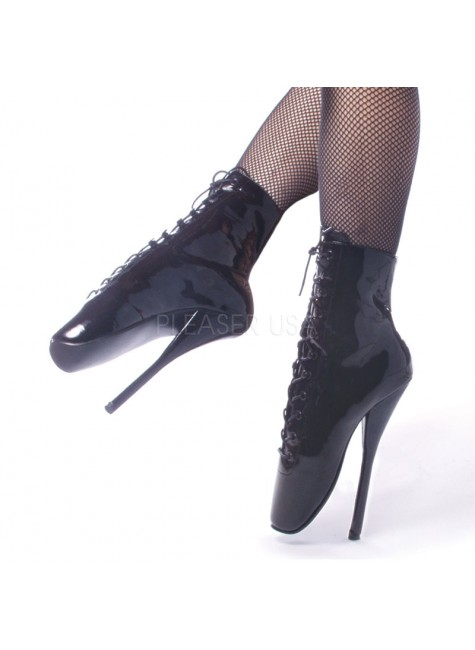 Ballet Lace Up Extreme Granny Boots at Gothic Plus, Gothic Clothing, Jewelry, Goth Shoes & Boots & Home Decor
