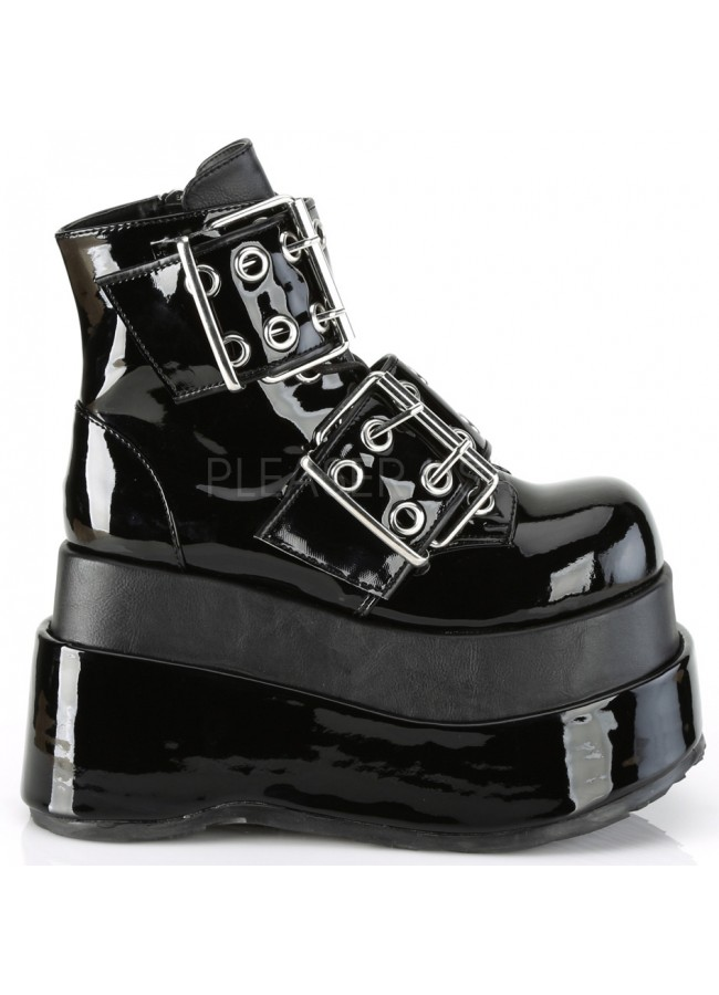 b9fedddaa ... Bear Black Platform Ankle Boots at Gothic Plus, Gothic Clothing,  Jewelry, Goth Shoes ...