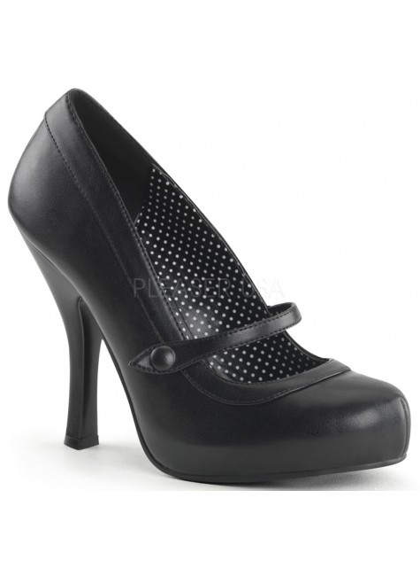 Cutie Pie Black Mary Jane Pin Up Pumps at Gothic Plus, Gothic Clothing, Jewelry, Goth Shoes & Boots & Home Decor