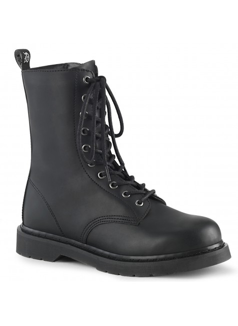 Bolt Mens Combat Mid-Calf Boot at Gothic Plus, Gothic Clothing, Jewelry, Goth Shoes & Boots & Home Decor