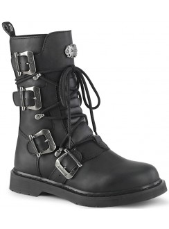Bolt Mens Strapped Combat Mid-Calf Boot Gothic Plus Gothic Clothing, Jewelry, Goth Shoes & Boots & Home Decor