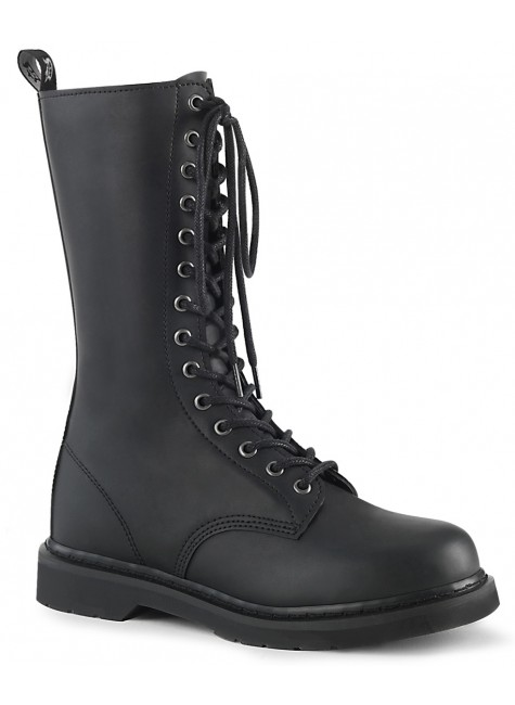 Bolt Mens Combat Mid-Calf 14-Eyelet Boot at Gothic Plus, Gothic Clothing, Jewelry, Goth Shoes & Boots & Home Decor