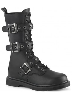 Bolt Mens Combat 14-Eyelet Boot with Buckled Straps Gothic Plus Gothic Clothing, Jewelry, Goth Shoes & Boots & Home Decor