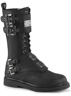 Bolt Mens Combat 14-Eyelet Boot with Metal Plates Gothic Plus Gothic Clothing, Jewelry, Goth Shoes & Boots & Home Decor