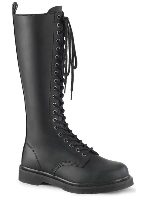 Bolt Mens Knee High Combat Boots at Gothic Plus, Gothic Clothing, Jewelry, Goth Shoes & Boots & Home Decor