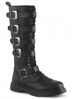 Bolt Mens Knee High Combat Boot with Buckled Straps Gothic Plus Gothic Clothing, Jewelry, Goth Shoes & Boots & Home Decor