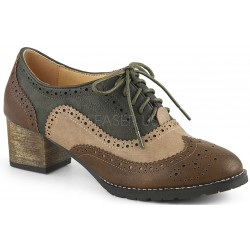 Russell Womens Wingtip Oxford in Tan and Brown Gothic Plus Gothic Clothing, Jewelry, Goth Shoes & Boots & Home Decor