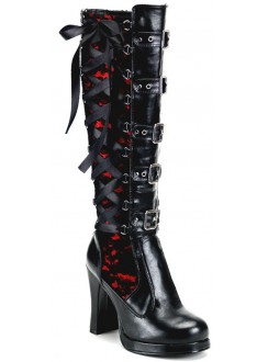 Crypto Lace Overlay Knee Boot Gothic Plus Gothic Clothing, Jewelry, Goth Shoes & Boots & Home Decor