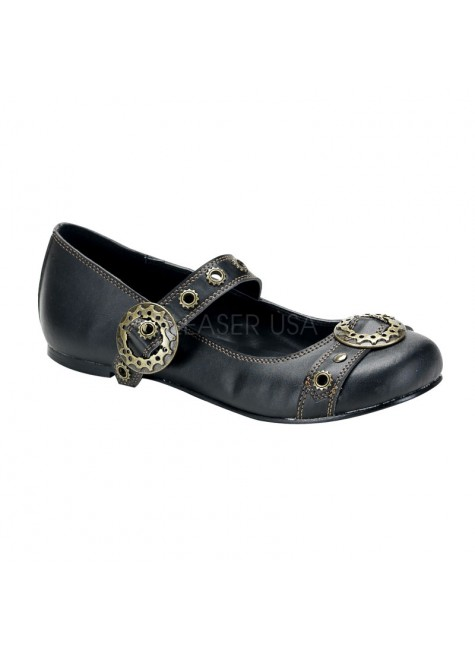 Steampunk Flat Mary Jane Shoe at Gothic Plus, Gothic Clothing, Jewelry, Goth Shoes & Boots & Home Decor