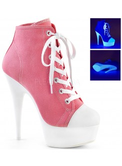 Pink and White High Heel Platform Sneaker Gothic Plus Gothic Clothing, Jewelry, Goth Shoes & Boots & Home Decor