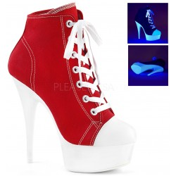 Red and White High Heel Platform Sneaker Gothic Plus Gothic Clothing, Jewelry, Goth Shoes & Boots & Home Decor