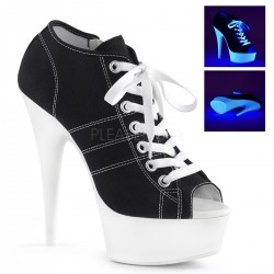 Black High Heel Peep Toe Sneaker Gothic Plus Gothic Clothing, Jewelry, Goth Shoes & Boots & Home Decor