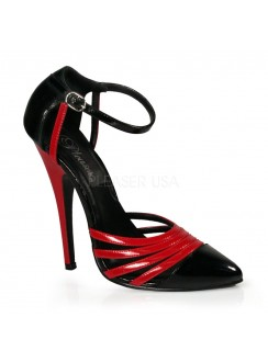 Domino High Heel Red and Black D-Orsay Pump Gothic Plus Gothic Clothing, Jewelry, Goth Shoes & Boots & Home Decor