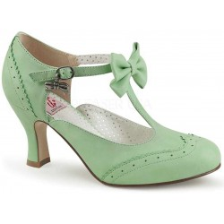 Flapper Mint Green T-Strap Bow Pump Gothic Plus Gothic Clothing, Jewelry, Goth Shoes & Boots & Home Decor
