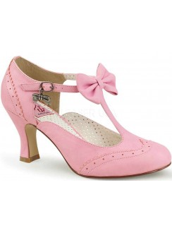 Flapper Pink T-Strap Pump Gothic Plus Gothic Clothing, Jewelry, Goth Shoes & Boots & Home Decor