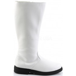 Captain Mid Calf Plain White Stormtrooper Boots Gothic Plus Gothic Clothing, Jewelry, Goth Shoes & Boots & Home Decor